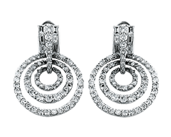 Estate Platinum Earrings