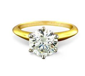 sell TIFFANY diamond Engagement Ring